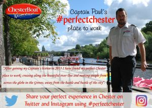 Paul on Chester Boat
