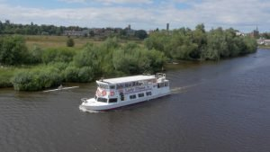 Lady Diana sails the River Dee